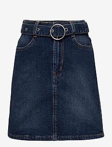 Skirt denim Irina - jeansowe spódnice - dark denim