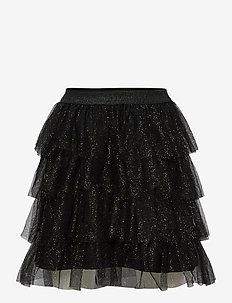 Skirt tulle flounces - kjolar - black