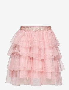 Skirt tulle flounces - skirts - pink