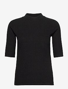 top Rita - stickade toppar & t-shirts - black