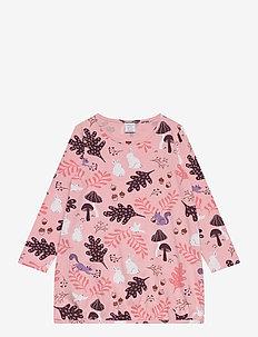 Top long ss colourful fun - blouses & tunieken - pink