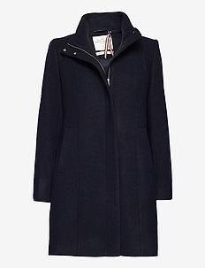 Coat Sara - wełniane płaszcze - blue