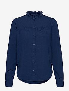 Blouse Cajsa denim - blouses med lange mouwen - denim
