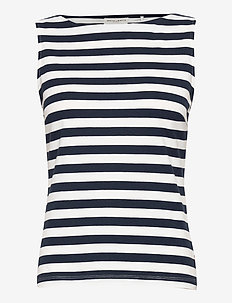 Top Serena - sleeveless tops - navy