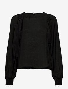 Blouse Gloria - blouses med lange mouwen - black