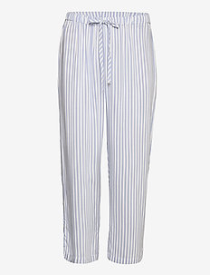 Night Trousers Woven Flora - bottoms - blue