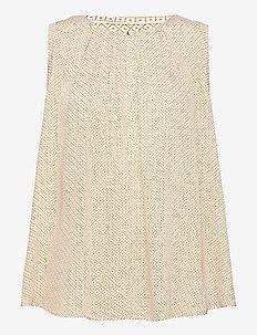 Blouse Summer viscose - blouses zonder mouwen - dark dusty yellow