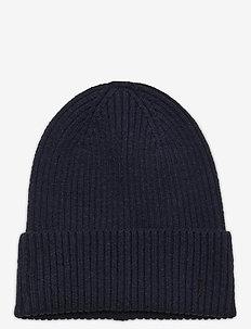 Cap rib beanie sustainable - mützen - navy