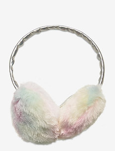 Earmuffs  fur rainbow - vêtements d'hiver - light pink