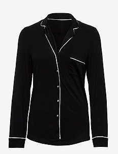 Night Shirt Black jersey Ecovi - tops - black