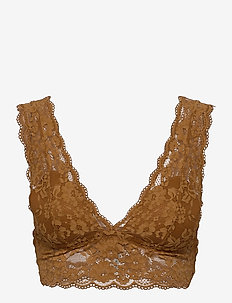 Bra Iris Lace Bralette - topatut rintaliivit - light brown
