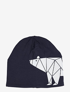 Cap tricot w reflective print - petten - blue