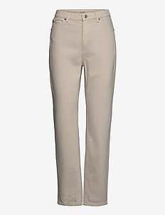 Denim trousers Betty ecru - mom jeans - light beige