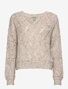 Sweater Ture - blouses med lange mouwen - light beige