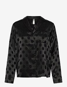 Night Shirt Woven Ditte - tops - black