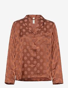 Night Shirt Woven Ditte - góry - coral