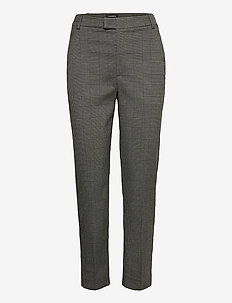 Trousers Polly check - slim fit bukser - grey