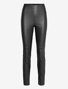 Trousers Ronna PU - leren broeken - black