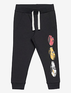 Trousers racer cars placed - housut - off black