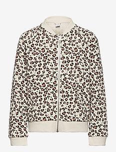 Jacket aop Leo - bomber jackets - lt beige