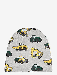 Cap tricot yellow work vehicle - hatter - grey melange
