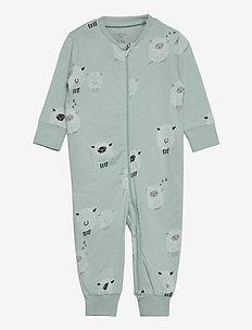 Pyjamas Sheep at back - one-sie - aqua