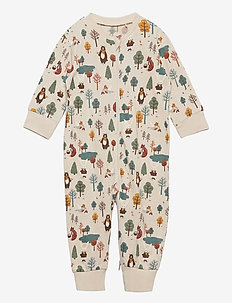 Pyjamas forest aop - one-sie - beige