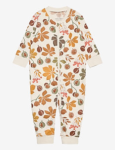 Pyjamas chestnut AOP - one-sie - beige