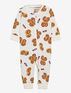 Pyjamas Saffron buns   Ginger - one-sie - white