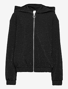 Sweatshirt Hoodie Glamour - cardigans - black