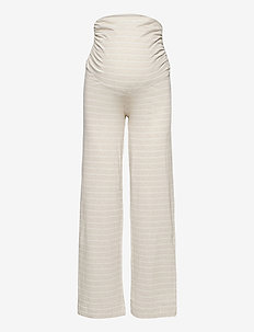 Night Trousers Mom Lisa - bottoms - beige