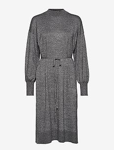 Dress Mimmie knit - stickade klänningar - black