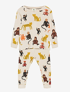 Pyjamas UNI aop jungle animals - sets - light beige
