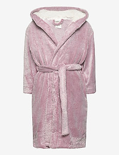 robe 2col effect pink with ear - badekåber - dusty pink