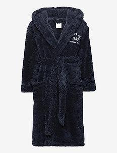 robe BB coral fleece 2 tone ef - badekåber - dark blue