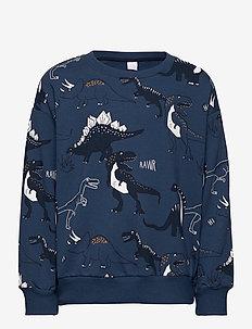 Sweater Dino AOP - sweatshirts - blue