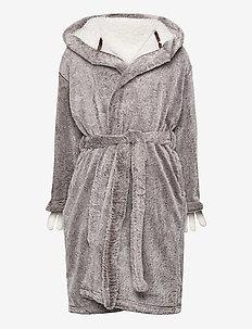 Robe fleece sloth - bathrobes - dark brown