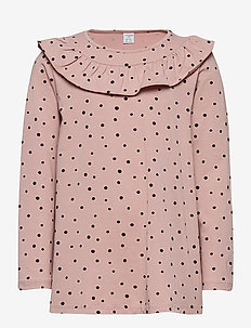 Top long frill detail stylish - blusen & tuniken - dusty pink