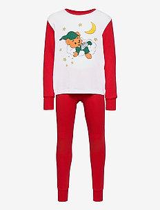 Pajamas UNI Bamse placed sleep - sets - red