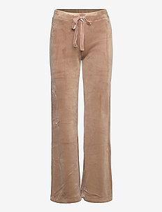 Trouser Miranda velour - casual trousers - beige