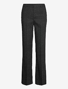 Trousers Fiona - broeken med straight ben - black