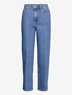 Trousers Hanna retro blue - mom jeans - blue