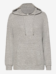 Lounge Top Hood Felicity - tops - grey