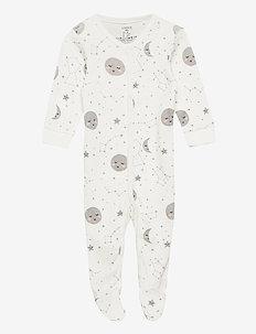 Pyjamas w foot night sky aop - one-sie - white