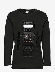 Top LS STREET Robot Space - långärmade t-shirts - dark grey