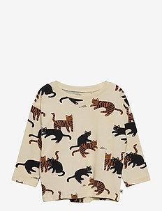 Top cats aop - blouses & tunieken - beige
