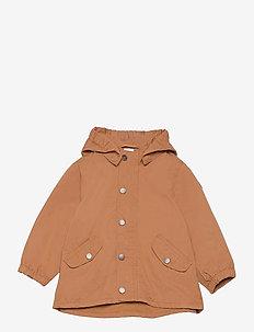 Jacket cotton parka - parkas - brown