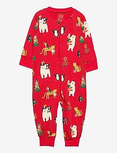 Pyjamas Funny x mas - one-sie - red