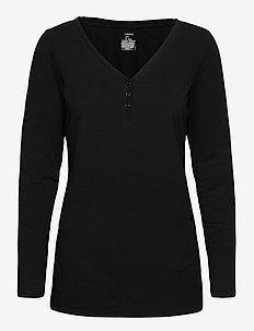 Night Top Lisa Nursing - Överdelar - black