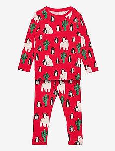 Set top leggings Funny xmas - set - red